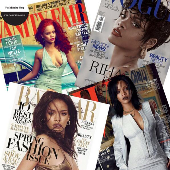rhianna magazine cover  copertine